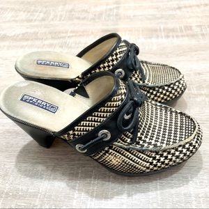 Sperry Top Sider Mule Houndstooth
